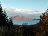 Lake Toya. View from the edge of the caldera