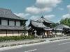 In front of the Nishi Hongan-ji Temple