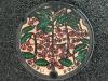 Manhole cover in Motomiya