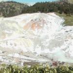 Sulphur pit and snow :)