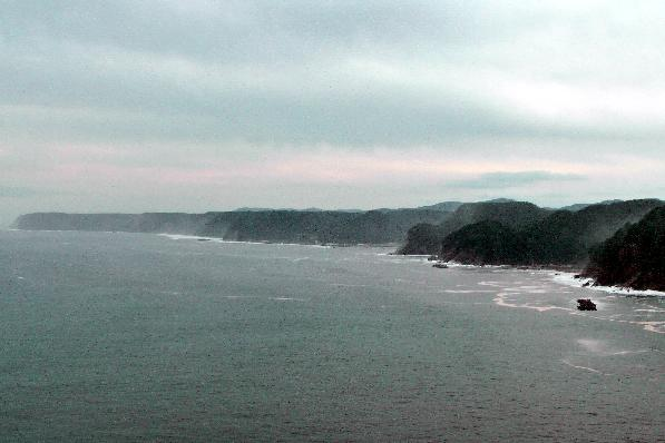 The cliff shore from Miyako on towards Kuji