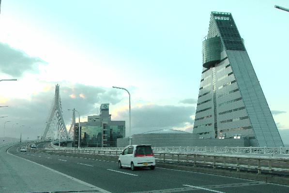 Aomori Prefecture Tourist Center and Aomori bay bridge