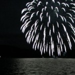 Firework at Lake Toya