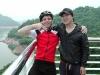 My host Hyngsup and me at Chungju dam