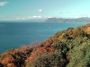 Bay of Oshima peninsula with view from Toyoura