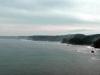 The cliff shore from Miyako until Kuji